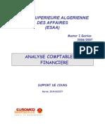 Analyse Comptable et Financière ESAA