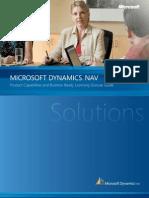 Microsoft Dynamics NAV Product Capabilities
