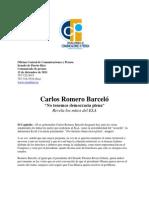 """Carlos Romero Barcelo """"No tenemos democracia plena""""Revela los mitos del ELA"""
