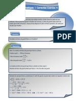 Mathématiques - Correction Exercice 4