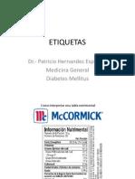 ETIQUETAS Información Nutrimental