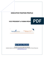 Executive Position Profile VP of HR - Opportunity Partners