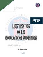 Textos de La Educacion Superior
