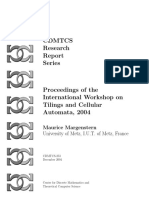 Maurice Margenstern- Proceedings of the International Workshop on Tilings and Cellular Automata, 2004