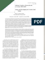 Creatividad Aprendizaje Creativo y Desarrollo Del Sujeto Creador