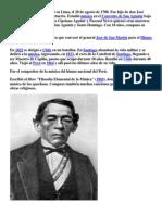 José Bernardo Alcedo nació en Lima