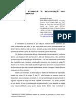 LIBERDADE DE EXPRESSÃO E RELATIVIZAÇÃO DOS DIREITOS FUNDAMENTAIS