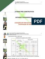 UFBA - Aula 07 - Estudos Preliminares - Estudos Topográficos - Locação do eixo da estrada - continuação