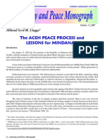 The Aceh Peace Process and Lessons for Mindanao