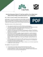 Oak Park TIF settlement executive summary and full text