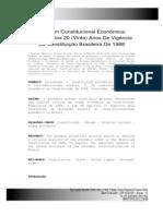 A Ordem Consitucional Economica