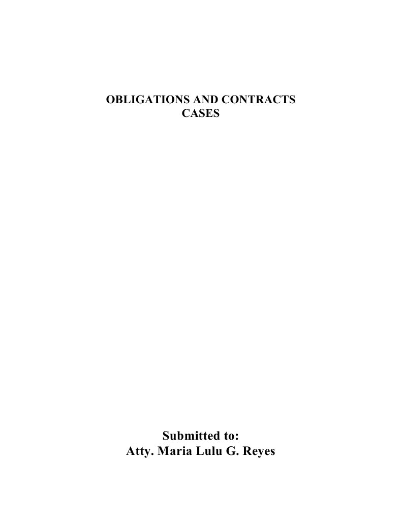 Obligations and Contracts Cases  9ac74cf2be29