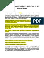Factores Curativos en Los Grupos