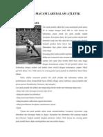 Artikel Macam-Macam Lari Dalam Atletik