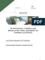 -O potencial hidráulico brasileiro para geração de energia elétrica - Guilherme