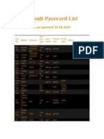 Default Password List