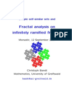 Christoph Bandt- Simple self-similar sets and Fractal analysis on infinitely ramified fractals