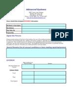 Site Survey Checklist
