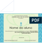 Modelo de Certificado - UEMA