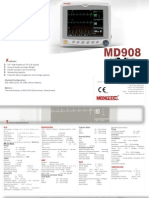 Md908 Portable multi parameter patient monitor