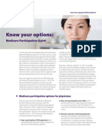 Know Options Medicare Participation Guide