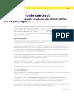 Sample Medicare Private Contract