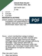 Pap330 Slide Sediaan Rias Wajah