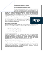 Role of Financial Institutions in Pakistan