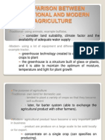 Comparison Between Traditional and Modern Agriculture