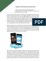 Comment Utiliser Skype Sur Votre iPod Touch Avec 3g Routeur