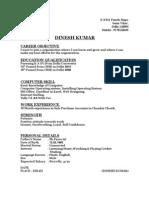 Dinesh Kumar Resume