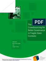 The Role of Crowdsourcing for Better Governance in Fragile State Contexts