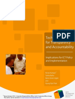 Technologies for Transparency and Accountability