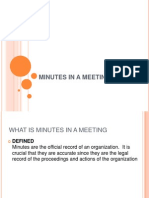 Minutes in a Meeting