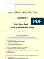 Lecture 1 of Software Construction (1)