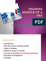 Training Module of a Gra