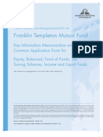 Franklin India TaxShield Application Form