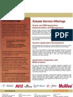 Estuate Service Offerings