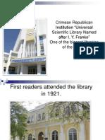 Global Libraries - Ukraine - Crimean Republican Institution