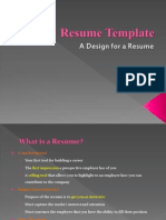 Resume Template - A Pattern for a Resume
