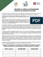 Pétition contre la fermeture de la centrale de Fesenheim