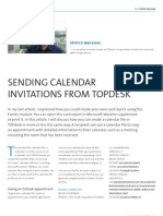 Sending Calendar Invitations From TOPdesk