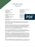 Letter from 22 Senators Urging Moratorium in the Closure of Postal Facilities