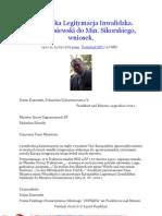 Europejska Legitymacja Inwalidzka 20111214 Stefan Kosiewski do Ministra Sikorskiego