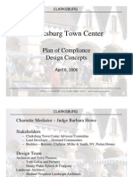 CLARKSBURG Clarksburg Town Center Plan of Compliance Design Concepts