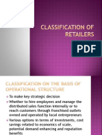 Classification of Retailers