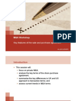 RED MA Workshop - Key Features of the Sale and Purchase Agreement