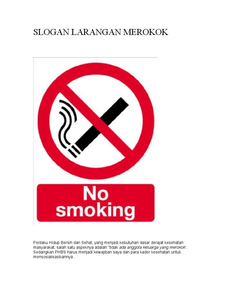 Contoh Gambar Slogan Dilarang Merokok Brad Erva Doce Info