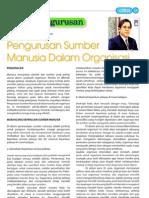Pengurusan Sumber Manusia Dalam Organisasi
