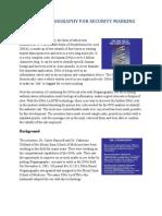 Dna Steganography for Security Marking